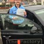 Jack Hoban-showing-driving-test-practical-pass-certificate